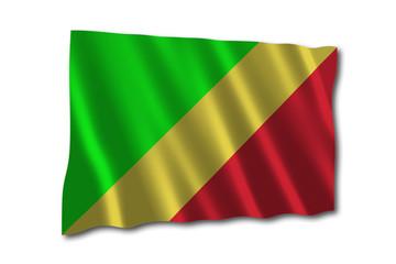 republik kongo flagge wedeln