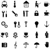 Set of vector icons, pictograms poster
