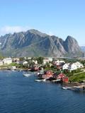 Cabanes rouges en Norvège