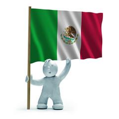 mexiko flagge staunen