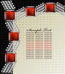 Abstract Silver Red and Black Satin Background