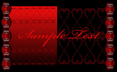 Satin Red and Black Floral Background