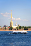 Peter and Paul fortress across the Neva. St-Petersburg, Russia poster