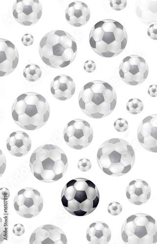 Des ballons de foot noir et blanc de rolerot photo libre de droits 16107896 - Ballon de foot noir et blanc ...