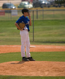 Youth Pitcher taking a break poster