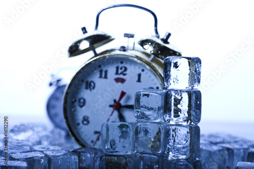 The time has come - alarm clock and ice