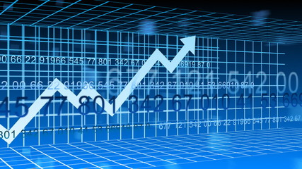 3d Stock market animation