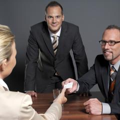 Geschäftsleute bei einer Konferenz