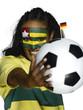Weiblicher Fußballfan aus Togo