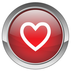 "Bouton ""Coeur"" - ""Heart"" button"