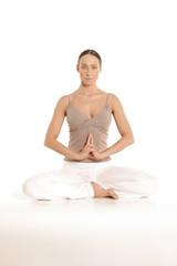 Frau Fingerübung Yoga Matangi Mudra
