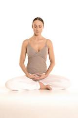Frau Yoga Dhyani Mudra