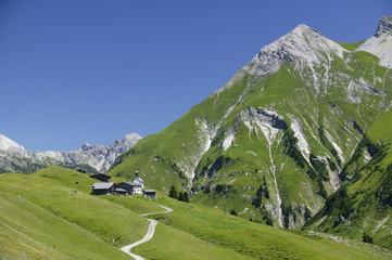 Dorf österreich Alpen Walsersiedlung