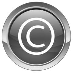 """""""Copyright"""" button (vector - grey)"""