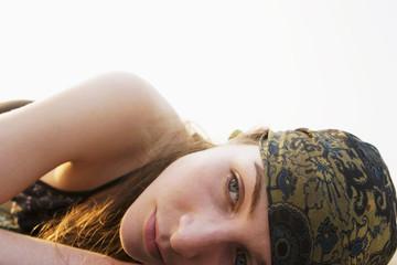 Frau tragen Kopftuch
