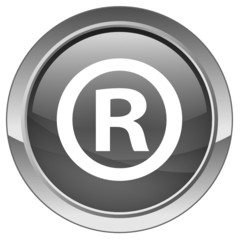 """""""Registered"""" button (vector - grey)"""