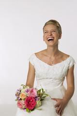 Junge Braut lachen, Portrait