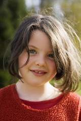 Mädchen lächeln, Porträt