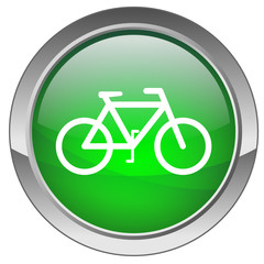 "Bouton ""Vélo"" (vert) - ""Bicycle"" button (green)"