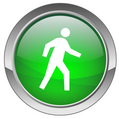 "Bouton ""Bonhomme marchant"" - ""Walking man"" button"