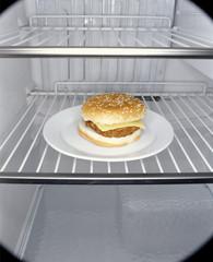 Hamburger im Kühlschrank