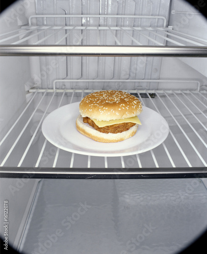 Hamburger in fridge