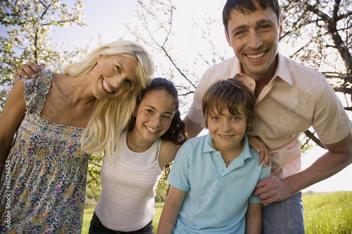 Germany, Baden Württemberg, Tübingen, Family portrait, smiling, close-up
