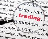 mot trading commerce sous la loupe poster