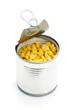 Boite de maïs ouverte