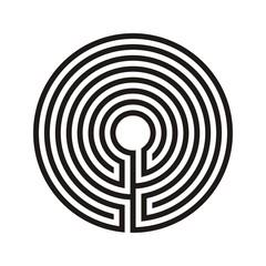 Christliches Labyrinthmuster Vektor