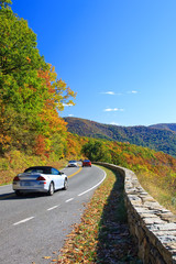 Road in Shenandoah National park at autumn