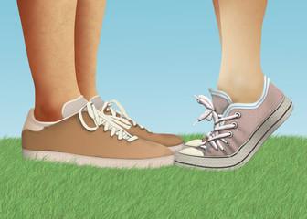 Scarpe romantiche