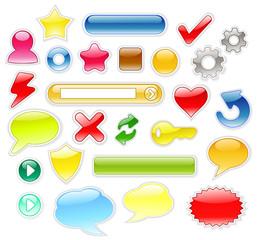 Glossy Design Elements