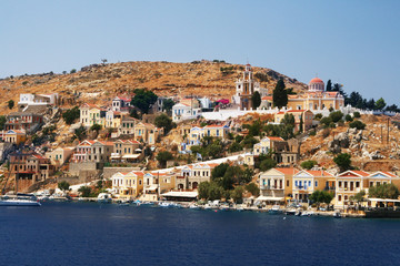 Greece symi -  landscape with mountain
