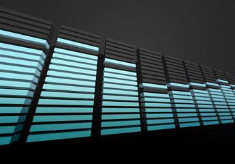 digital spectrum equalizer display