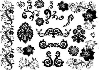 set of design elements on white