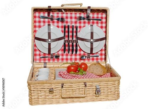 Fotobehang Picknick Picknickkorb