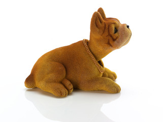 Side view of retro nodding dog (bulldog)