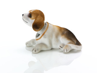 Side view of retro nodding dog (beagle)