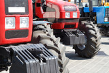 Exhibition of new tractors for agriculture poster