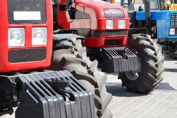 Exhibition of new tractors for agriculture