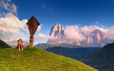 Montagna, Dolomiti, Alpi, Italia, Val Gardena