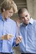 Teen boys with their MP3