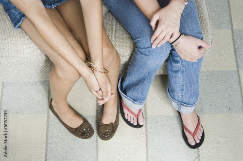 Legs of teen girls