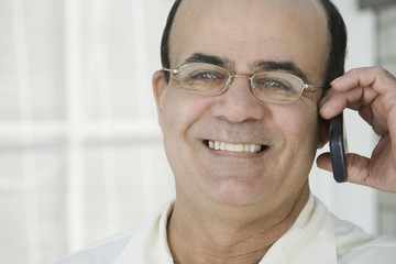 Smiling Hispanic man