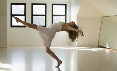 Female dancer in studio