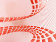 red abstract cubes on the light netted background