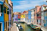Fototapety Kanal in Burano Venedig