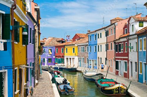 Kanal w Burano Venedig