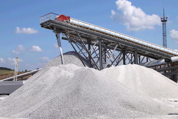 Limestone mining and transportation